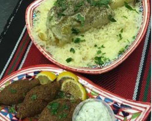 two Mediterranean dishes